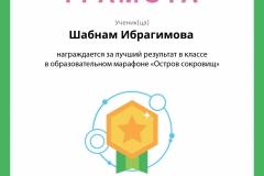 Ибрагимова Шабнам
